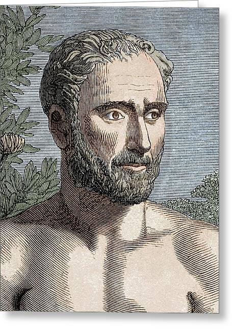 Pythagoras Of Samos Greeting Card by Sheila Terry