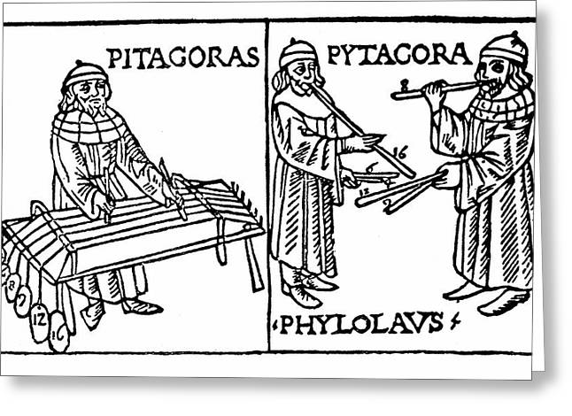 Pythagoras Greeting Card by Universal History Archive/uig