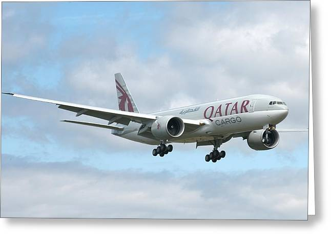 Qatar 777 Greeting Card by Jeff Cook