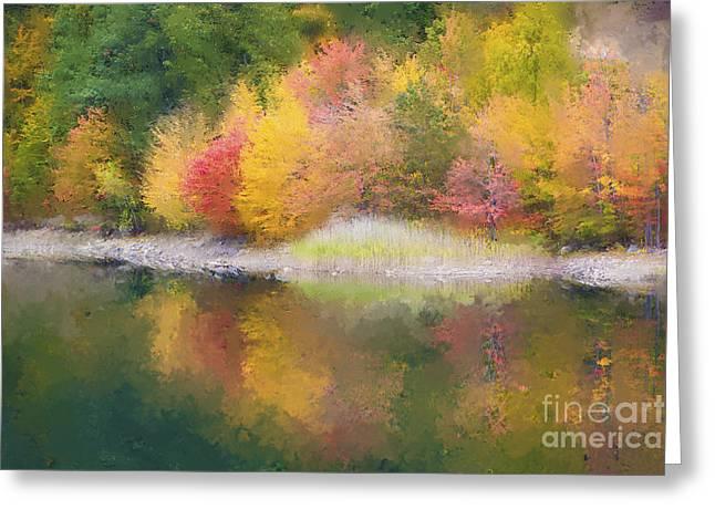 Quabbin Reservoir Fall 2014 Greeting Card