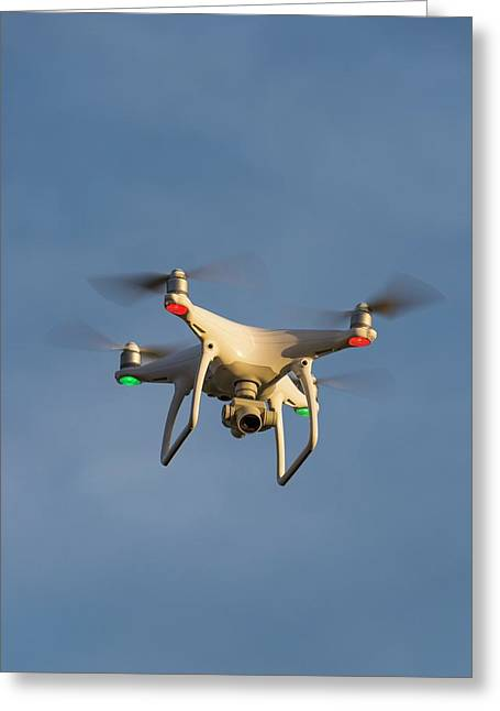 Quad-copter Drone Greeting Card