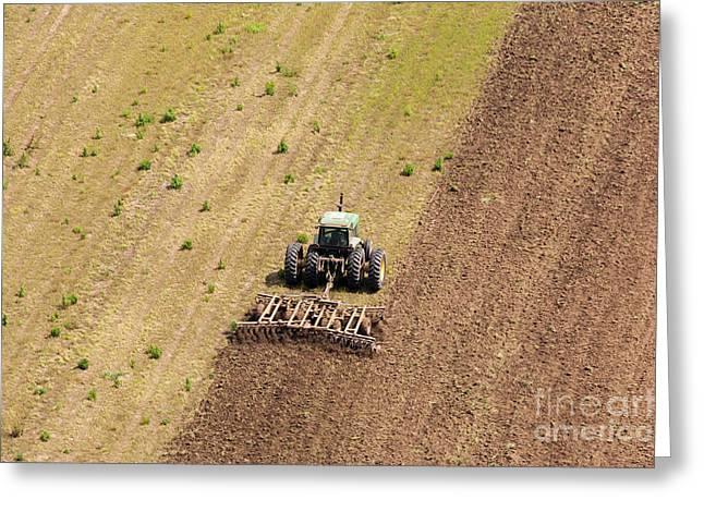 Quad Tractor Greeting Card by John Ferrante