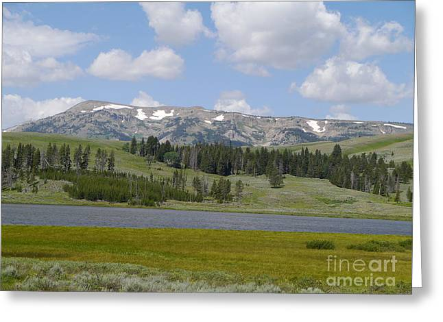 Quadrant Mountain - Gallatin Range Greeting Card by Christiane Schulze Art And Photography