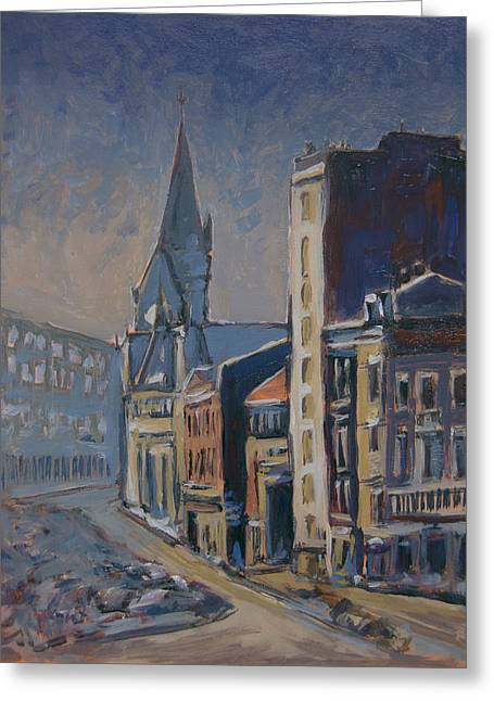 Quai-sur-meuse Liege Greeting Card