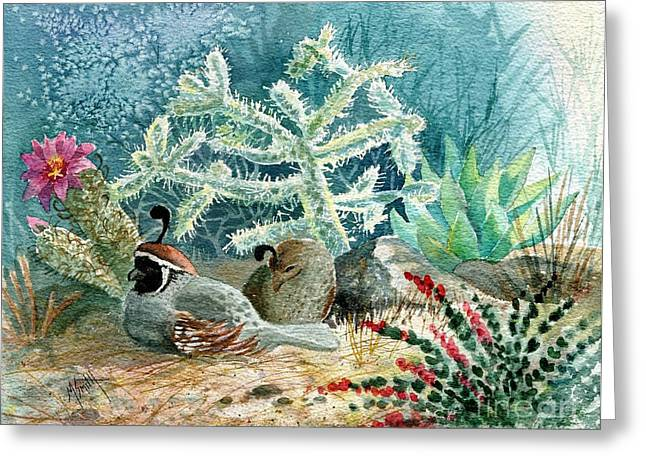 Quail At Rest Greeting Card