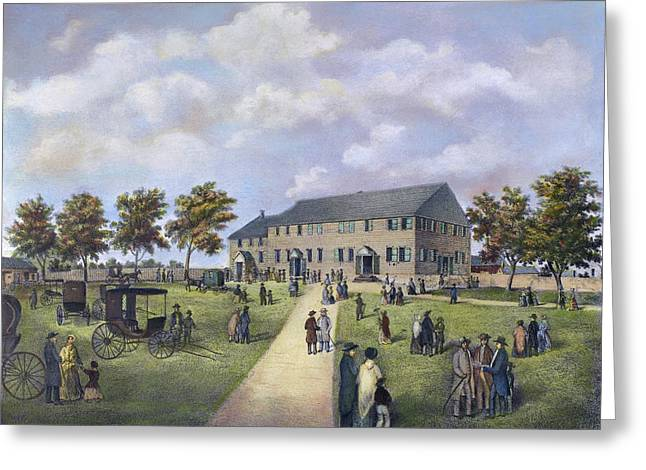 Quaker Meeting House, 1857 Greeting Card
