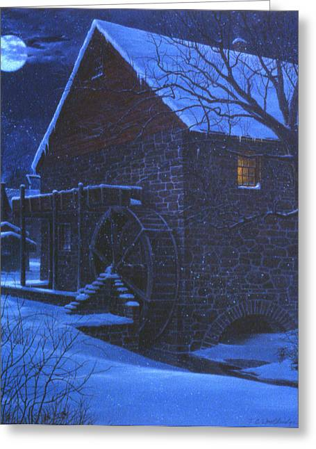 Greeting Card featuring the painting Quaker's Wheel by Tom Wooldridge