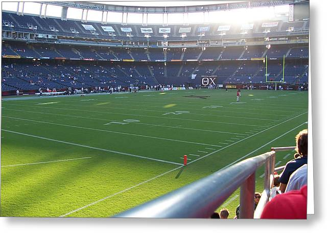 Qualcomm Stadium Greeting Card by Georgia Fowler