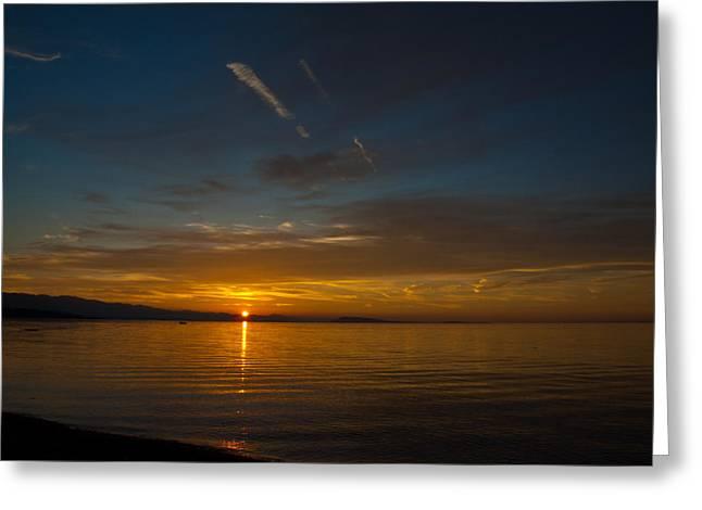 Qualicum Sunset II Greeting Card by Randy Hall
