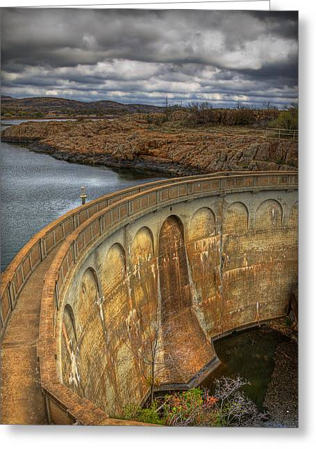Quanah Parker Dam Greeting Card by Ricky Barnard