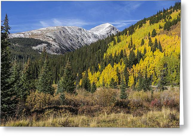 Quandary Peak Greeting Card by Aaron Spong