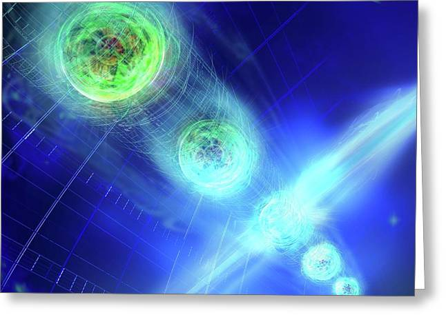 Quantum Entanglement Greeting Card by Harald Ritsch
