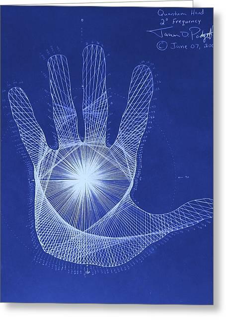 Quantum Hand Through My Eyes Greeting Card