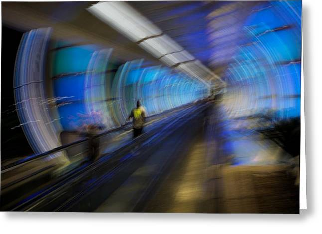 Greeting Card featuring the photograph Quantum Tunneling by Alex Lapidus