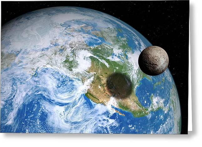 Quaoar Compared To Earth Greeting Card