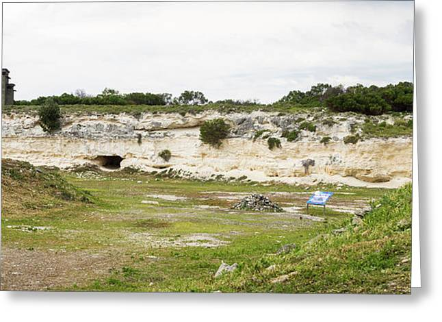 Quarry At Robben Island Prison Where Greeting Card by Panoramic Images