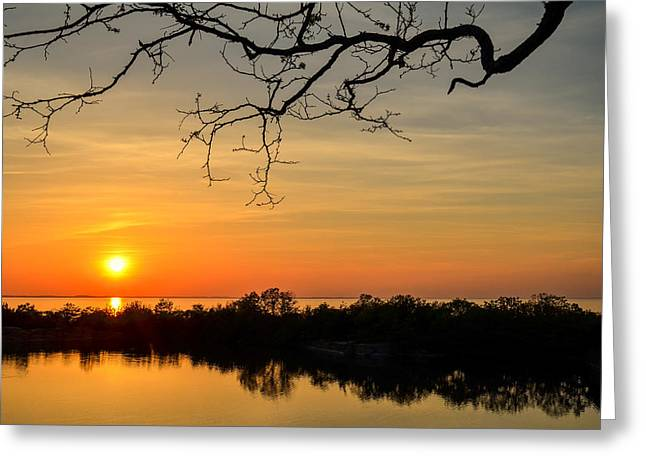 Quarry Sunset Greeting Card