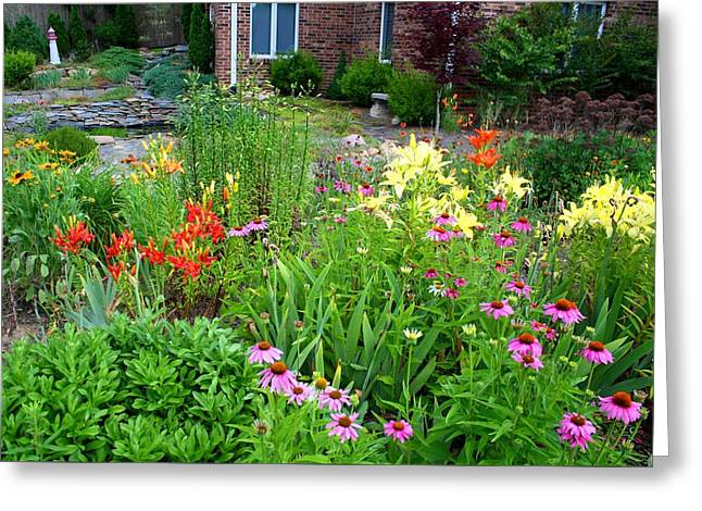 Greeting Card featuring the photograph Quarter Circle Garden by Kathryn Meyer