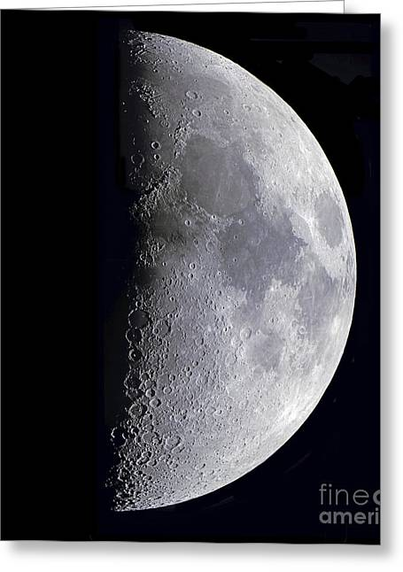 Quarter Moon Greeting Card by Alan Dyer