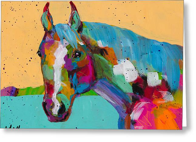 Quarter Turn Greeting Card by Tracy Miller