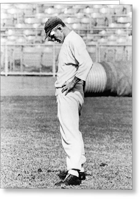 Quarterback Y. A. Tittle Greeting Card by Underwood Archives