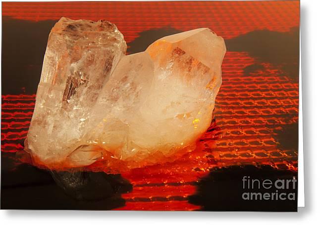 Quartz Crystal Abstract Greeting Card