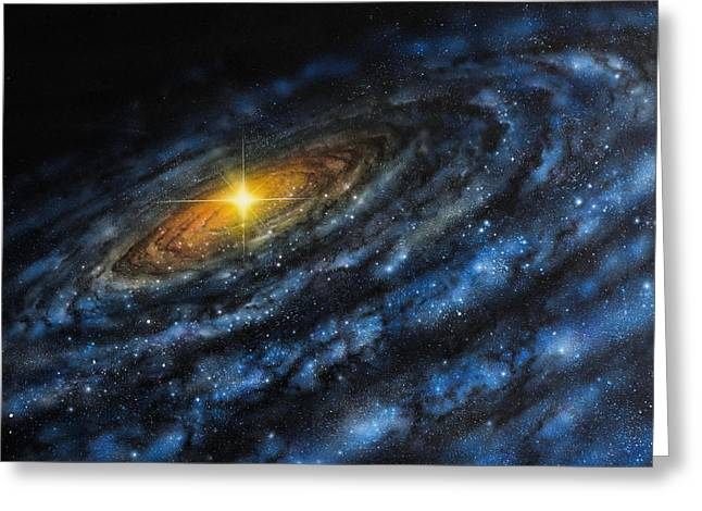 Quasar Greeting Card by Don Dixon