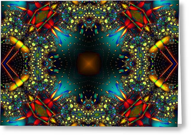 Quasar Kaleidoscope No 1 Greeting Card
