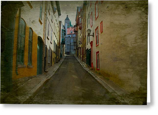 Quebec City French Street Scene Fine Art Photograph Print Greeting Card
