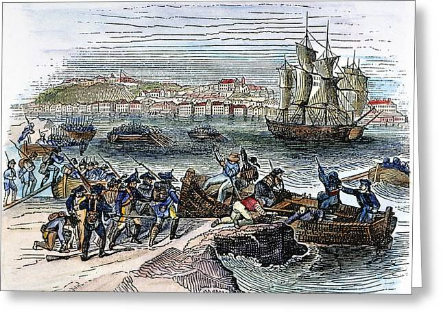 Quebec Expedition, 1775 Greeting Card by Granger