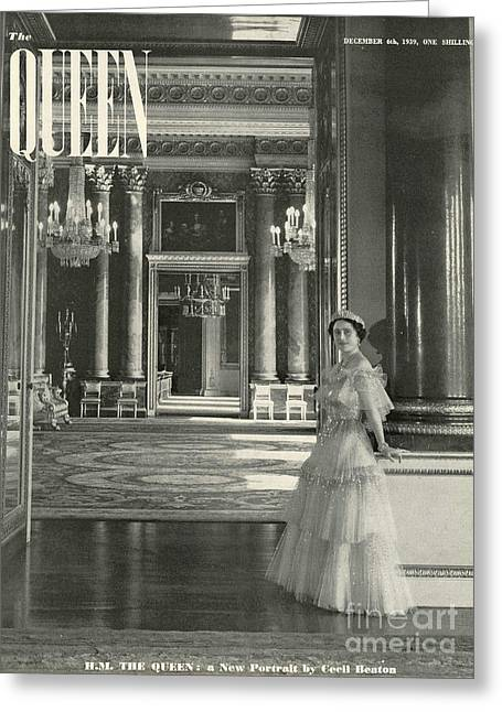 Queen 1939 1930s Uk Queen Elizabeth The Greeting Card by The Advertising Archives
