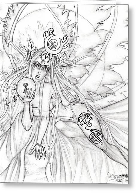 Queen Aene Greeting Card by Coriander  Shea