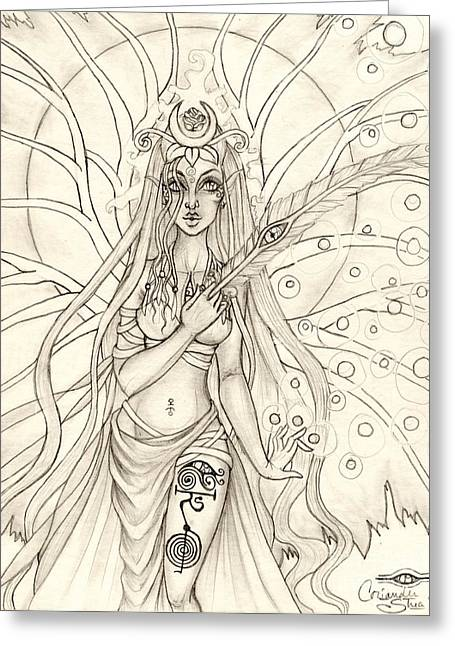 Queen Altheia Greeting Card by Coriander  Shea
