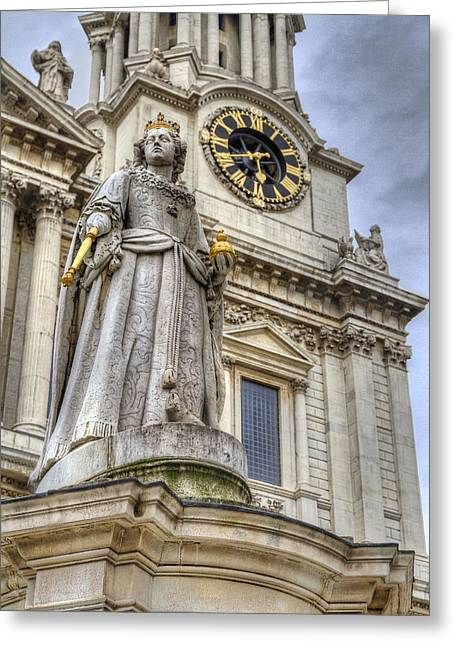 Queen Anne Statue Greeting Card by Tim Stanley