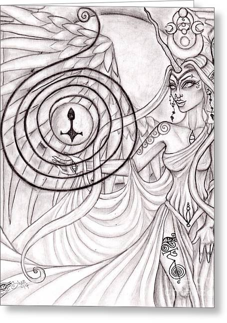 Queen Arianrhod Greeting Card