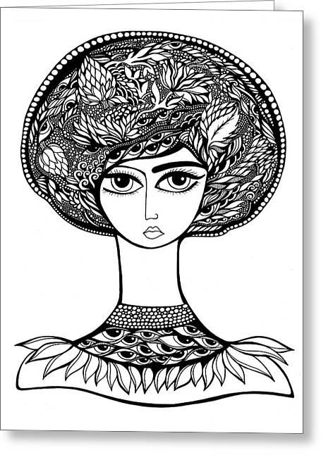 Queen Artichoke Greeting Card by Jody Pham