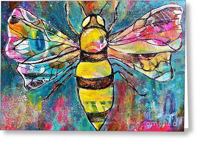 Queen Bee #2 Greeting Card by Kim Heil