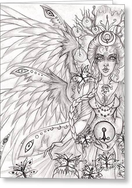 Queen Caer' Delii Greeting Card by Coriander  Shea