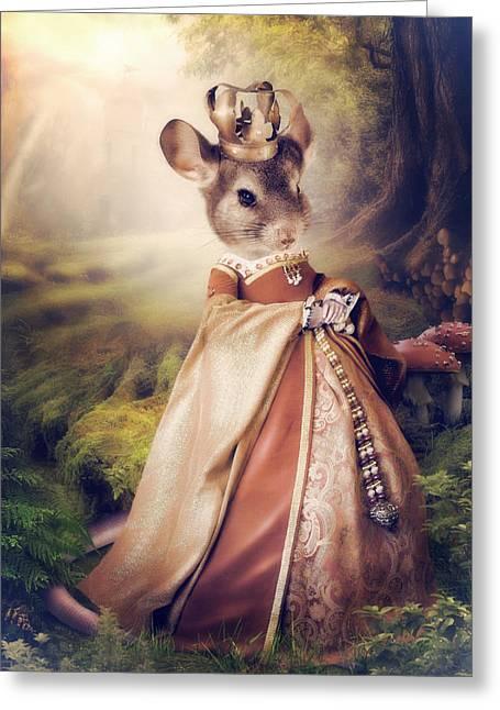 Queen Greeting Card by Cindy Grundsten