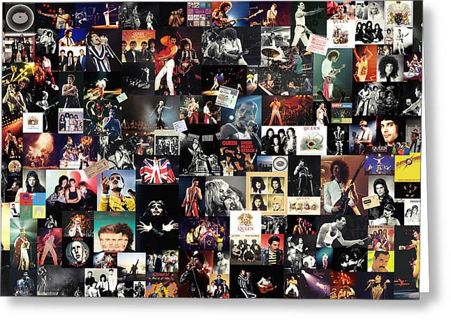 Queen Collage Greeting Card