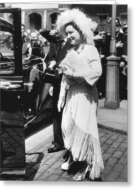 Queen Elizabeth Fashion Greeting Card by Underwood Archives