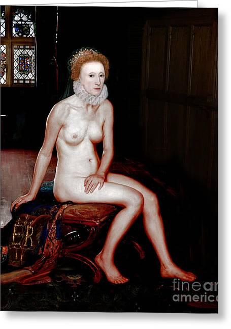 Queen Elizabeth I Seated Nude Greeting Card