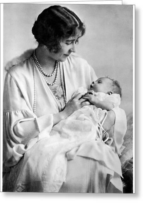 Queen Elizabeth II (1926-) Greeting Card by Granger