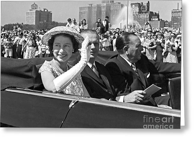 Queen Elizabeth In Chicago 1959 Greeting Card