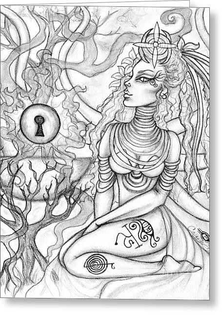 Queen Haelane Greeting Card by Coriander  Shea