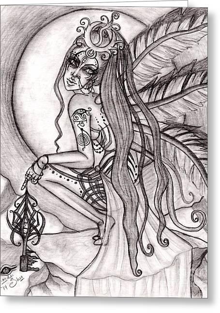 Queen I' Eloraii Greeting Card by Coriander  Shea