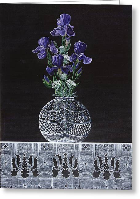 Queen Iris's Lace Greeting Card