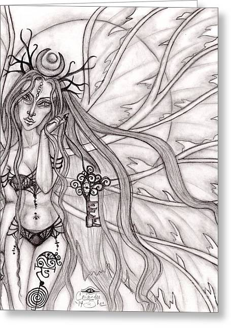 Queen Mabh Greeting Card by Coriander  Shea