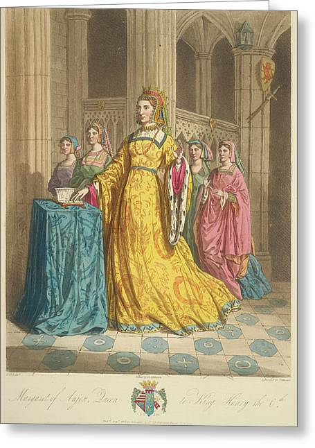 Queen Margaret Of Anjou Greeting Card by British Library