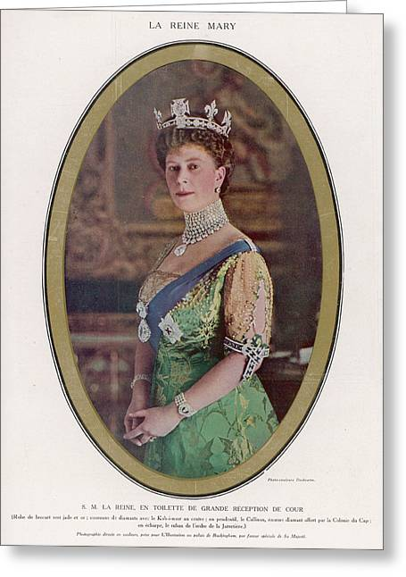 Queen Mary (1867 - 1953) Wearing Greeting Card by Mary Evans Picture Library